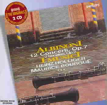 ALBINONI:12 CONCERTOS BY HOLLIGER,HEINZ (CD)